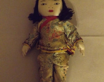 vintage 1950's Asian Doll