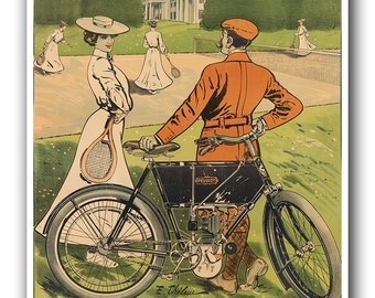 Vintage Biking Art Cycling Bike Print Bicycle Sports Poster (H361)