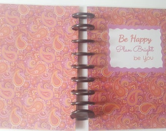 Disc Bound Planner Cover, Classic Cover size 7.75 × 9.75 inches , Statinery, Planners, Be Bright, Laminated Cover
