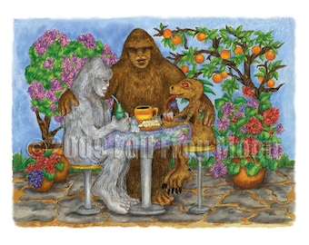 The Cryptid Cafe Print