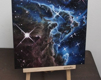 "10x10"" Original Oil Painting - Monkey Head Nebula Painting - Space Wall Art"