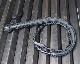 Black & Red BDSM Leather Whip