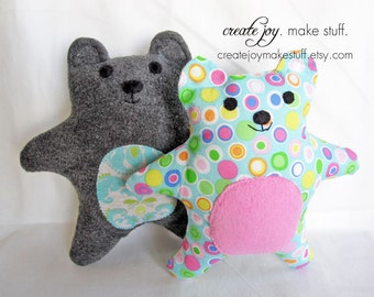Baby Bear Sewing Pattern - PDF printable - Tutorial, Easy, simple, cloth, teddy, plush, plushie, softie, doll, stuffed, soft, toy, baby