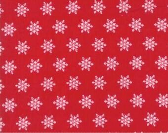 Moda - Bunny Hill Designs - Sugar Plum Christmas - Snowflakes - Red
