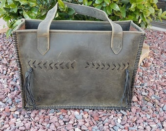 Distressed Leather Bag ***SOLD***