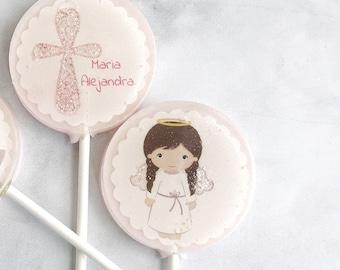 Baptism Lollipops - Baptism Favor - Lollipop for Baptism - Christening Lollipops - Lollipop Party Favor - Set of 6