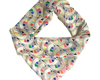 Printed silk scarf / Gift for girlfriend / Gift for her / Gift for mum / For the bird lover