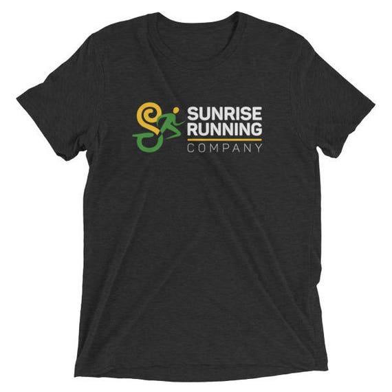 Men's Sunrise Run Co ''Official'' Training TriBlend T-Shirt - Sunrise Running Company - Short Sleeve Running Shirt