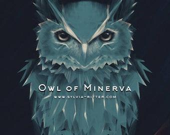 Owl of Minerva- Signed Giclée Print