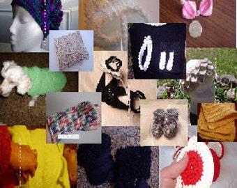 eBook PATTERN: 20 plus PDF Crochet Patterns, Baby booties, Hats, EarWarmers, Wrist Warmer, Beaded Pillow more free shipping by Kelly Taylor