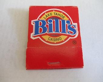 Bill's Casino Lake Tahoe Nevada Matchbook (unstruck)