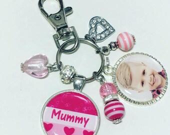 Mummy photo keyring, gift for mummy, Mummy photo gift, Mothers Day gift