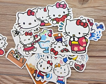 36 PCS, Hello Kitty sticker, Hello Kitty, JPop sticker, Cat sticker, Cartoon sticker, Sanrio sticker, Sanrio Japan, FK 30