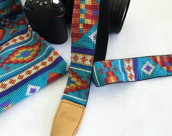 Selected promotion wholesale price item,NuovoDesign Tribal collection (Many patterns available) camera strap for DSLR and mirrorless