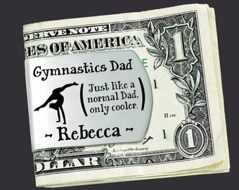 Gymnastics Dad | Fathers Day Gift | Dad Gift | Gift for Dad | Dad Gifts | Husband Gift | Personalized Money Clip | Korena Loves