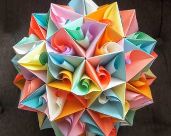 3D origami Giant Ant-Lion  kusudama