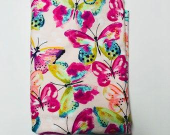 Flannel Receiving Blanket {Butterflies}