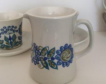 "Milk jug Figgjo Flint -  ""Tor Vikings"". Designed by Turi Gramstad Oliver, Norway."