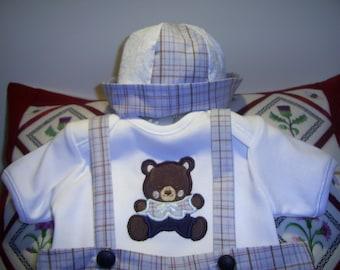 Little Boy Suit - Light Blue Check