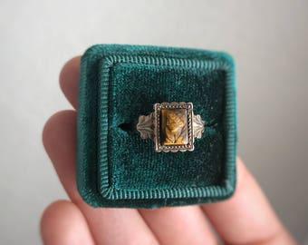 Vintage Tigers Eye Cameo Ring