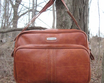 World Traveler Vintage Brown Carry On Overnight Bag Luggage