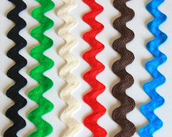 """Cotton Ric Rac, 5/8"""", vibrant colors"""