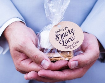 S'more Wedding Favor | Tags, Ties & Bags - Perfect Smore Wedding Tags