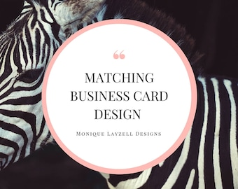 Matching Business Card Design Printable Business Cards Regular Size or Square Shape Print File Vistaprint or Moo or at Home