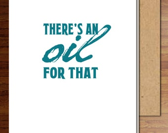 There's an Oil for That, folded thank you cards, young living