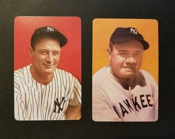 2 Original Authentic 1973 Smithsonian Babe Ruth & Lou Gehrig Playing Cards (Free Shipping) ..... Read Listing For 25% OFF + Extra Free Cards