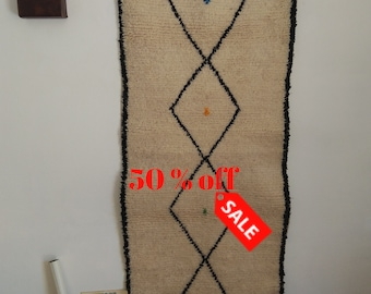 Free shipping beni ourain, azilal rug, ivory beni ourain, minimaliste rug, mudcloth art, Beni ourain rug,#7
