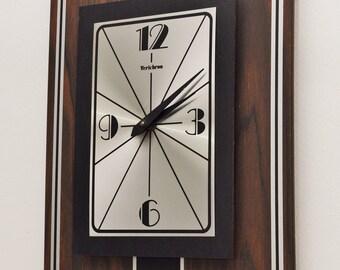 Mid Century Verichron Wall Clock-Vtg Verichron Panel Clock-Retro MCM Clock