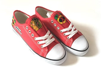 Chicago Blackhawks Shoes, Blackhawks Hockey Shoes, Womens Shoes, Womens Blackhawks Shoes