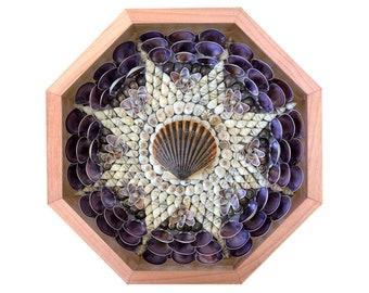 "Nantucket Sailor's Valentine Seashell Mosaic Design ""Nantucket Star"""