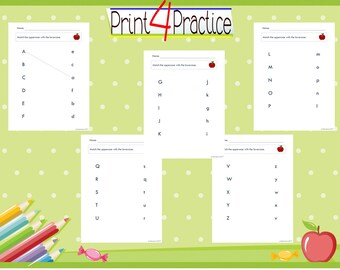 worksheet pack of uppercase and lowercase practice, number practice, pattern practice and shape practice