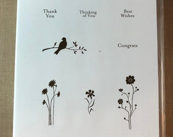 Stampin Up Hostess Silhouette Sentiments Stamp Set