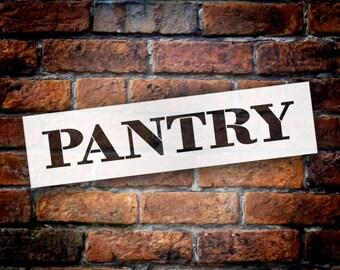 Pantry - Farmhouse Serif - Word Stencil - Select Size - STCL1955 - by StudioR12