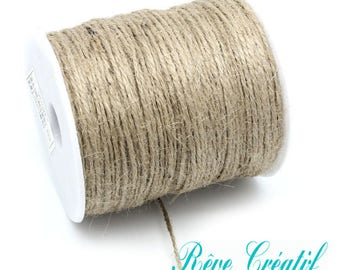 5 meters Colored Hemp Cord, for Jewelry Making, Tan, 2mm