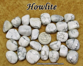 Howlite (medium) tumbled stone crystals