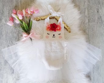 Easter Romper / First Birthday Romper / Easter Dress / First Easter Outfit