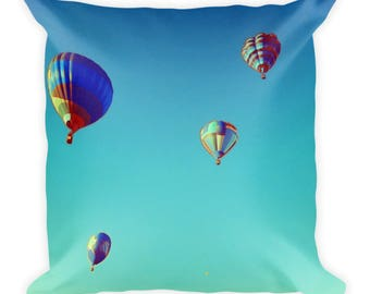 Hot Air Balloons Rising - Pillow