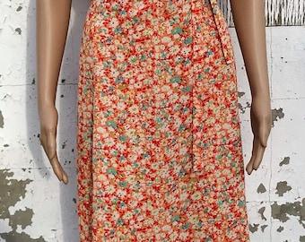 Vintage Dress / Vintage Floral Dress / Spring Dress / Baby Shower Dress / Size 18 / Sleeveless Dress / Mid Calf / 1970s Dress / 70s Dress