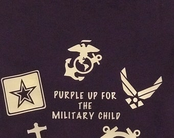 Purple Up, Supporting the Military Child, Shirt