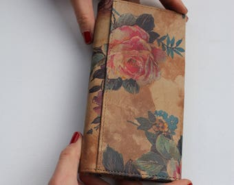 Large Clip Wallet Summer Garden Floral