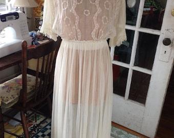 Edwardian cotton voile lawn dress
