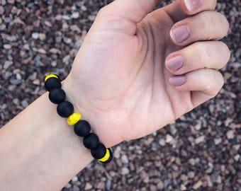 Black and yellow beaded bracelet | Beaded Bracelet | Boho Bracelet | Gypsy Bracelet