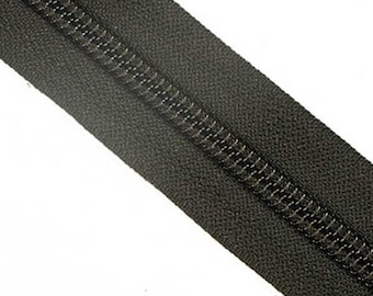 8C YKK Nylon Zipper Tape By The Yard Black