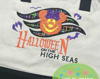 Minnie or Mickey Hallloween High Seas Tote Bag
