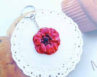 Original Keychain painted pretty poppy