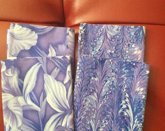 4 Novelty Print Fabric Fat Quarter 18 x 22 Inches